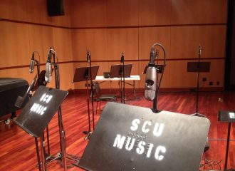SCU Music Stands and Mics